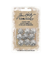 Tim Holtz Idea-ology Findings 20 pk-Fluted Stars, , hi-res