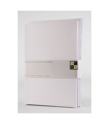 DCWV A7 12 pack card and envelope set: Embossed White cards