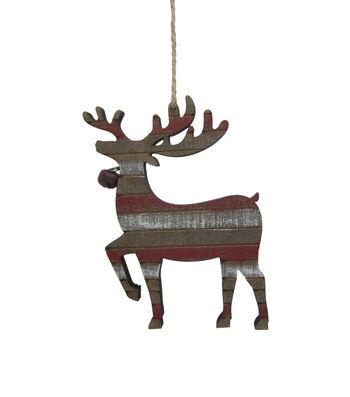 Maker's Holiday Christmas Woodland Lodge Shiplap Deer Ornament