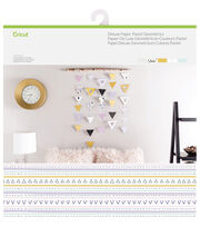 Cricut® 10 Pack 12''x12'' Deluxe Papers-Pastel Geometrics, , hi-res