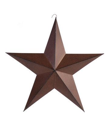 Americana Patriotic 18'' Metal Star-Rust Black
