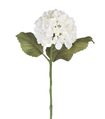 Bloom Room 28'' Burlap Hydrangea Stem-White