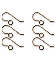 Vintaj Metal Ear Wires-French 20x10mm, , hi-res