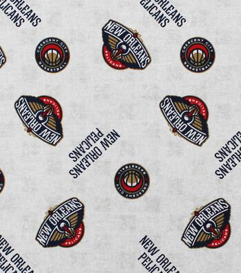 "New Orleans Pelicans Cotton Fabric 44""-Logo Toss"