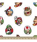Nintendo Super Mario Fleece Fabric 59\u0022-Characters Toss