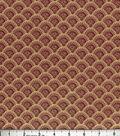 Buttercream™ Elizabeth Collection Cotton Fabric-Floral Fan Burg Metallic