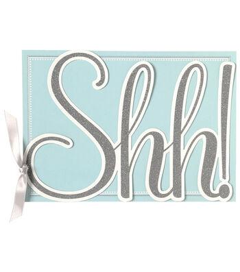 Anna Griffin Shh Die Cut Word Custom Invitation