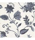 Heritage Blue Jacobean Flower Wallpaper Sample