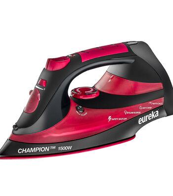 Eureka Champion Steam Iron-Red