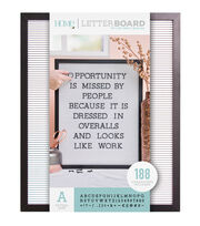 DCWV Home 16''x20'' Black & White Letter Board with 1'' Black Letters, , hi-res