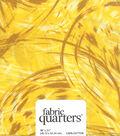 Fabric-Quarters Assorted Fabric-Yellow