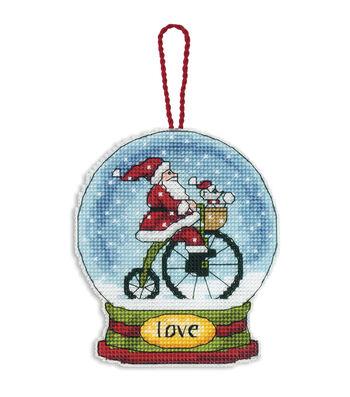 Dimensions Counted Cross Stitch Kit Love Snowglobe