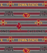 "Iowa State University Cyclones Fleece Fabric 58""-Polo Stripe, , hi-res"