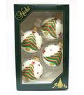 Maker\u0027s Holiday 4ct Glass Christmas Tree Ornaments