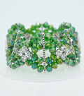 Crystal Diamond Style Bracelet-Green Shine