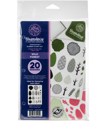 Crafter's Companion Threaders Rubber Stamp Set-Wild Forest