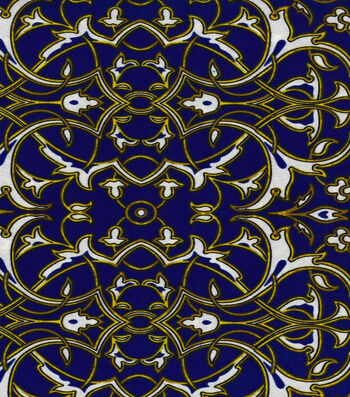 "Nicole Miller Twill Fabric 57""-Blue"