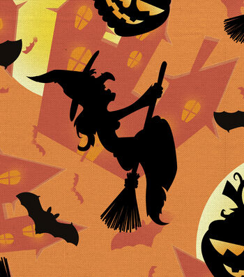 Halloween Cotton Fabric 44''-Spooky Cackles