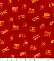 University of Southern California Trojans Cotton Fabric 43''-Red, , hi-res