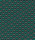 Quilter\u0027s Showcase™ Fabric 44\u0027\u0027-Pool Green & Black Geometric