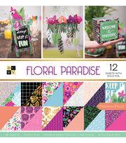 """DCWV 36 Pack 12""""x12"""" Premium Printed Cardstock Stack-Floral Paradise, , hi-res"""