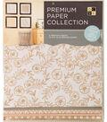 DCWV 12\u0022x12\u0022 set of 5 Premium Papers-Gold Multipack Assortment