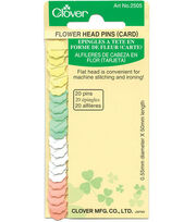 Clover® Flower Head Pins-20 Count Carded, , hi-res