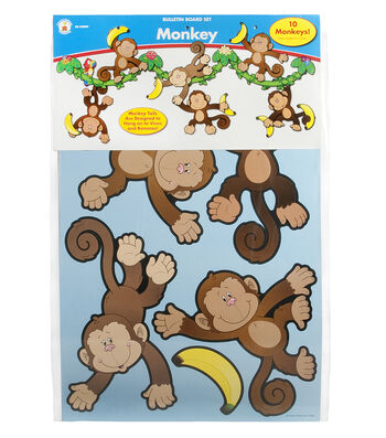 Carson Dellosa Monkey Bulletin Board Set