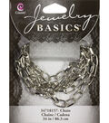 Jewelry Basics 34in/86.36cm Silver Oval Link Chain by Cousin