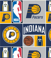 """Indiana Pacers Cotton Fabric 44""""-Patch, , hi-res"""