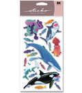 EK Success Sticko Layered Stickers-Sharks,Whales & Octopus