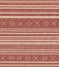 Southwest Dobby Stripe Red Tan Cotton