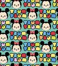 Tsum Tsum Flannel Fabric 42\u0022-Mickey and Minnie Stripes