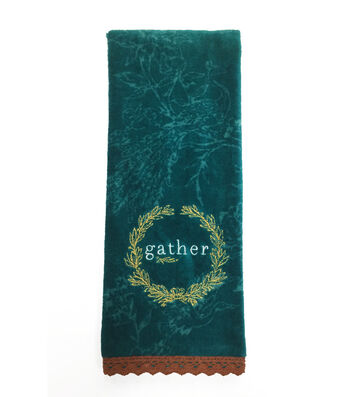 Fall Into Color 16''x28'' Velour & Terry Printed Hand Towel-Gather