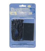 Darice® 20pcs Deco Light Teeny Bulbs Colored LED Lights Green Cord, , hi-res