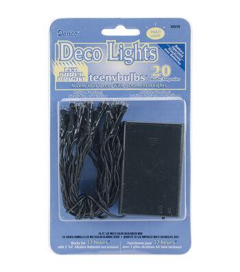 Darice® 20pcs Deco Light Teeny Bulbs Colored LED Lights Green Cord