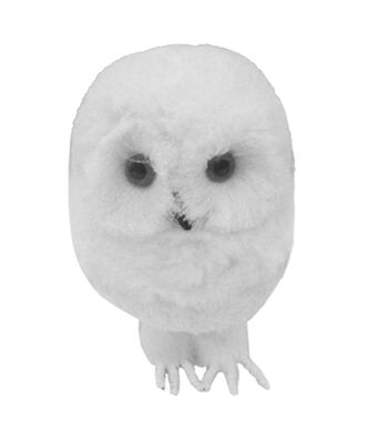 Blooming Holiday Christmas Snowy Owl-White