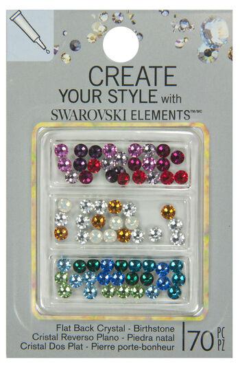 EK Success Create Your Style Swarovski Flatback Colormix 4mm Birthstone