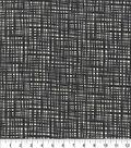 Keepsake Calico Cotton Fabric 44\u0027\u0027-Onyx Crossed