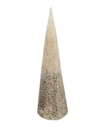 Maker's Holiday Christmas Large Cone Tree-Champagne