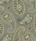 Waverly Print Fabric-Caftan Paisley/Moonstone