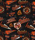 Baltimore Orioles Vintage Cotton Fabric 58\u0027\u0027-Vintage