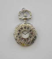 hildie & jo™ Antiquist Pocket Watch Antique Silver Pendant, , hi-res