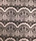 Casa Collection Lace Fabric 56\u0022-Eyelash Black