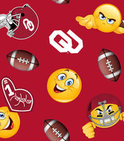 "University of Oklahoma Sooners Fleece Fabric 60""-Emoji, , hi-res"