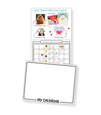 "Make Your Own Calendar Book 11""X8-1/2""-White"