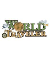 Jolee's Boutique Title Wave Stickers-World Traveler, , hi-res