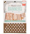 DCWV 6\u0022x8\u0022 DIY Project Stack Banners: Burlap