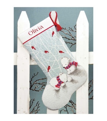 Dimensions Counted Cross Stitch Kit Snow Bears Stocking