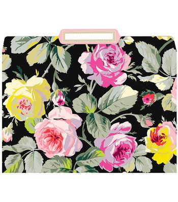 Anna Griffin Grace Blk Floral File Folders